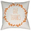 Surya Wreath Pillow - Item Number: WRE003-2020