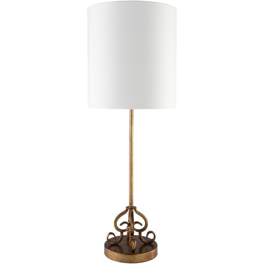 Surya Ackerman Painted Gold Tint Traditional Table Lamp - Item Number: ACK742-TBL