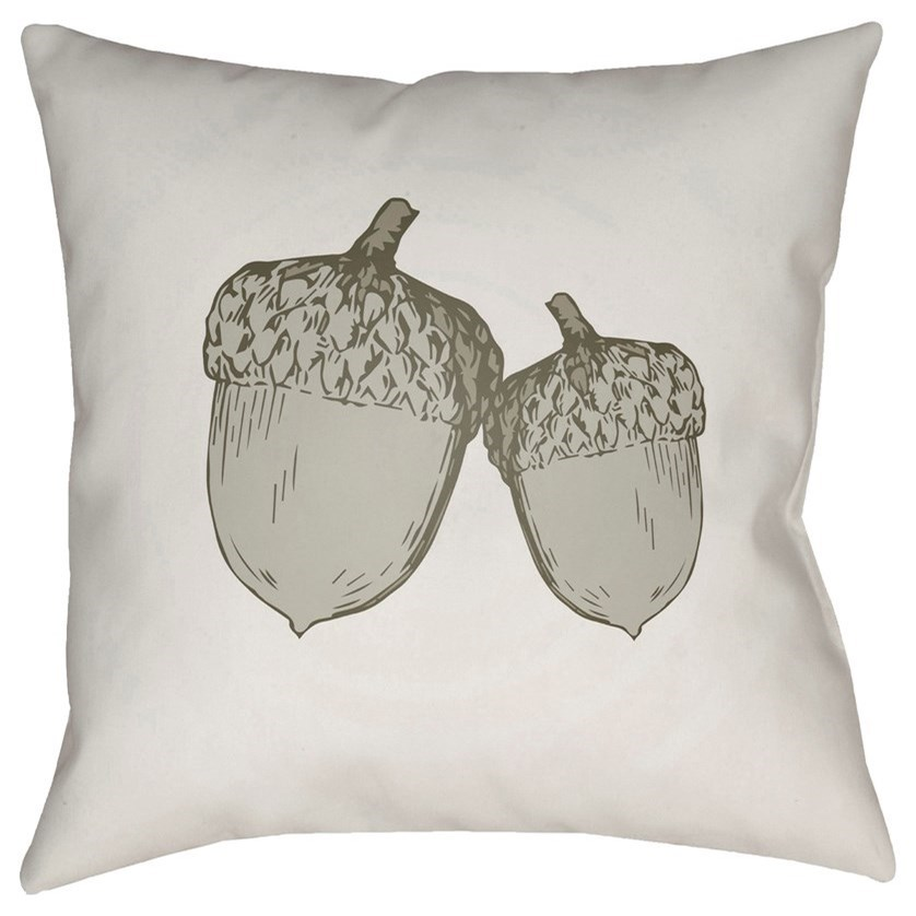 Acorn 20 x 20 x 4 Polyester Throw Pillow by Surya at Houston's Yuma Furniture