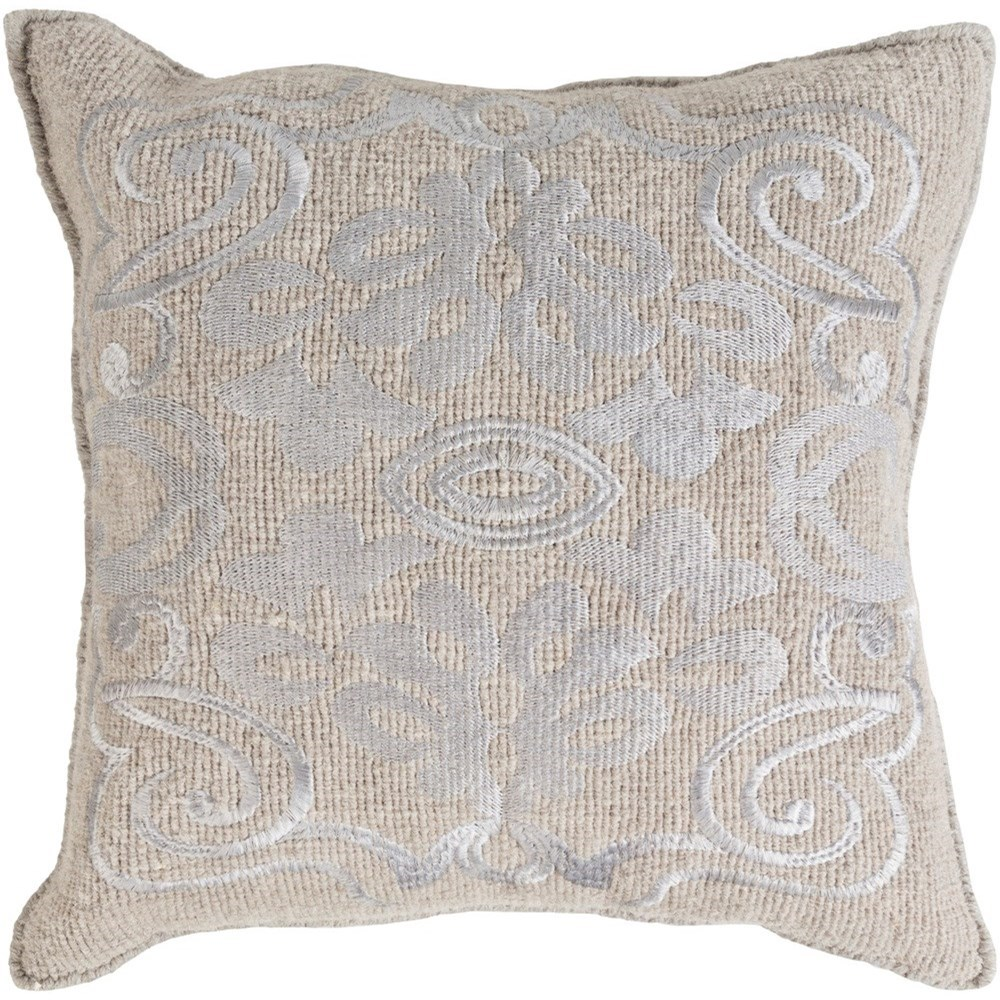 Surya Adeline 20 x 20 x 4 Down Throw Pillow - Item Number: AD001-2020D