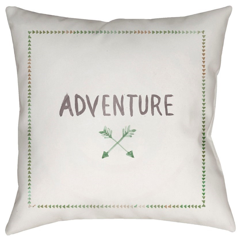 Surya Adventure II 18 x 18 x 4 Polyester Throw Pillow - Item Number: ADV002-1818