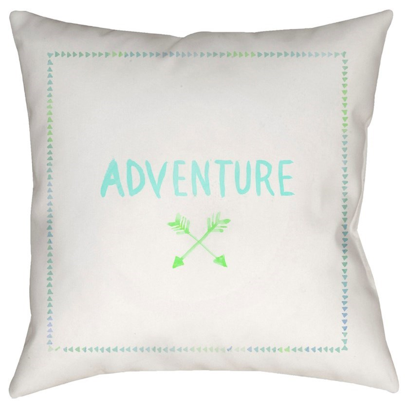 Adventure II 20 x 20 x 4 Polyester Throw Pillow by Surya at Fashion Furniture
