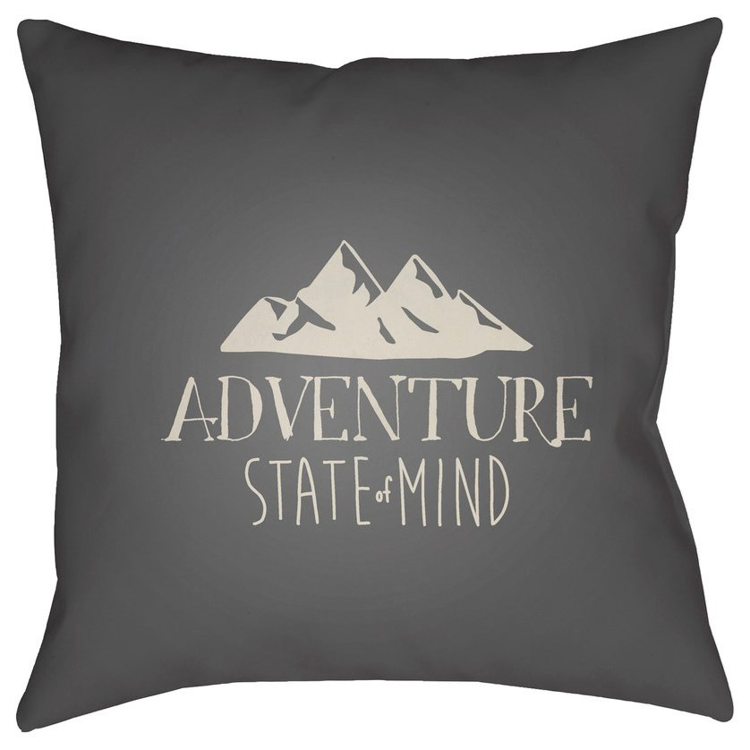 Surya Adventure III 18 x 18 x 4 Polyester Throw Pillow - Item Number: ADV007-1818