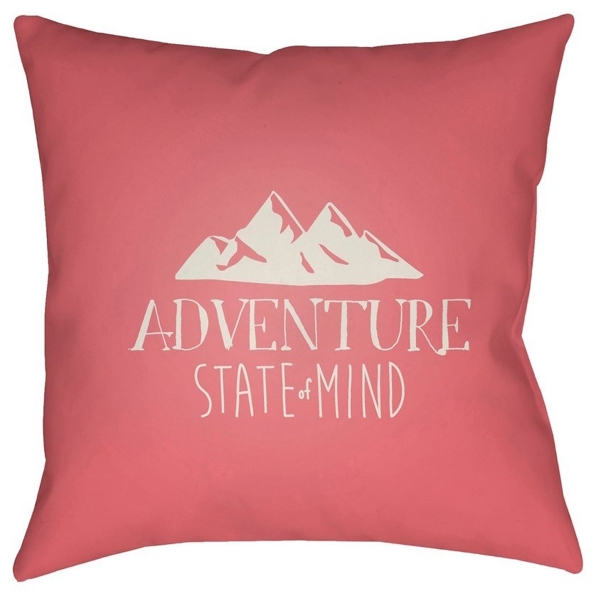 Surya Adventure III 20 x 20 x 4 Polyester Throw Pillow - Item Number: ADV008-2020