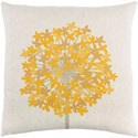 9596 Agapanthus 20 x 20 x 4 Down Throw Pillow - Item Number: AP001-2020D