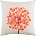 Surya Agapanthus 18 x 18 x 4 Polyester Throw Pillow - Item Number: AP002-1818P