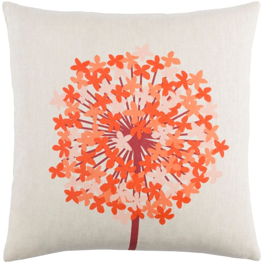 Agapanthus 22 x 22 x 5 Down Throw Pillow by Ruby-Gordon Accents at Ruby Gordon Home
