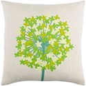 Surya Agapanthus 18 x 18 x 4 Down Throw Pillow - Item Number: AP003-1818D