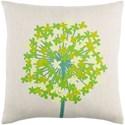 Surya Agapanthus 20 x 20 x 4 Down Throw Pillow - Item Number: AP003-2020D