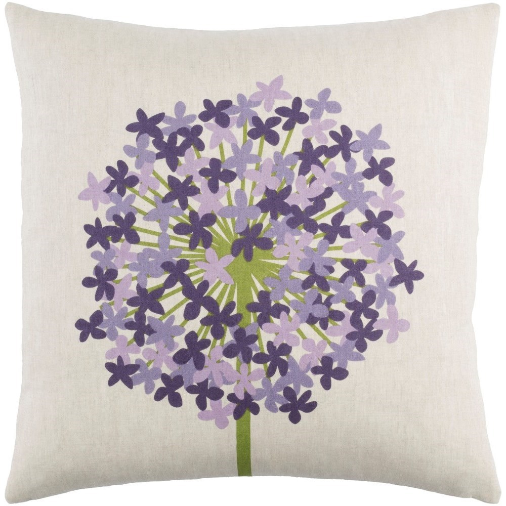 Surya Agapanthus 18 x 18 x 4 Polyester Throw Pillow - Item Number: AP004-1818P