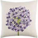 Surya Agapanthus 18 x 18 x 4 Polyester Throw Pillow - Item Number: AP004-1818P