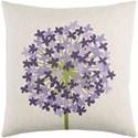 Surya Agapanthus 20 x 20 x 4 Polyester Throw Pillow - Item Number: AP004-2020P