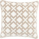 Surya Alexandria 18 x 18 x 4 Down Throw Pillow - Item Number: AX002-1818D