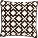 Surya Alexandria 18 x 18 x 4 Down Throw Pillow - Item Number: AX003-1818D