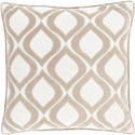 Surya Alexandria 18 x 18 x 4 Down Throw Pillow - Item Number: AX007-1818D
