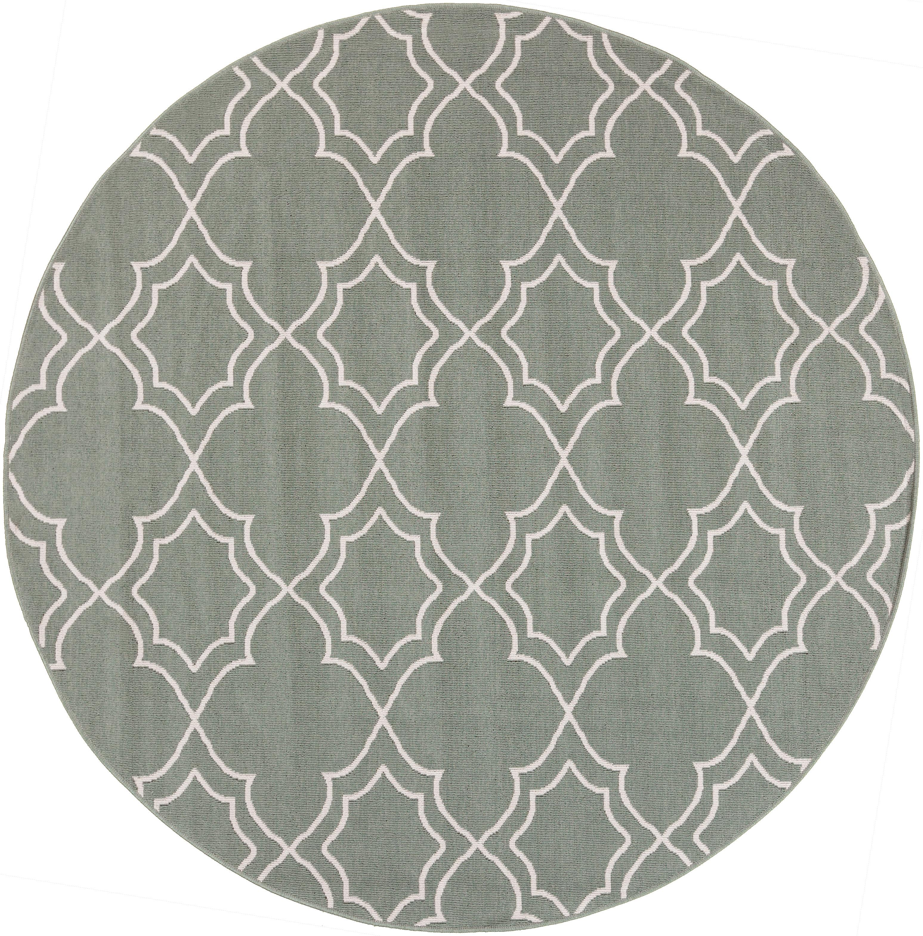 "Surya Rugs Alfresco 5'3"" Round - Item Number: ALF9589-53RD"