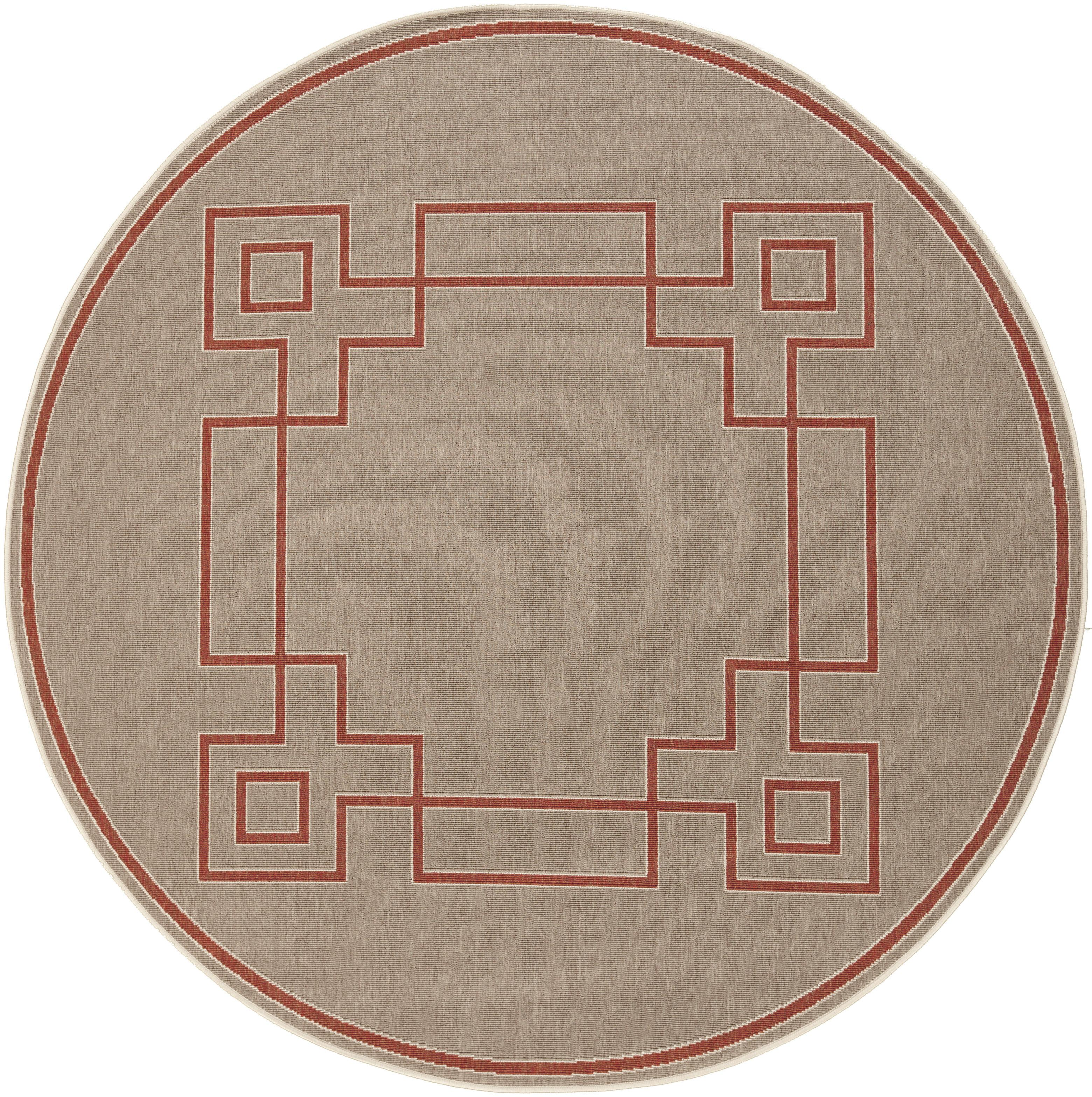 "Surya Rugs Alfresco 8'9"" Round - Item Number: ALF9633-89RD"