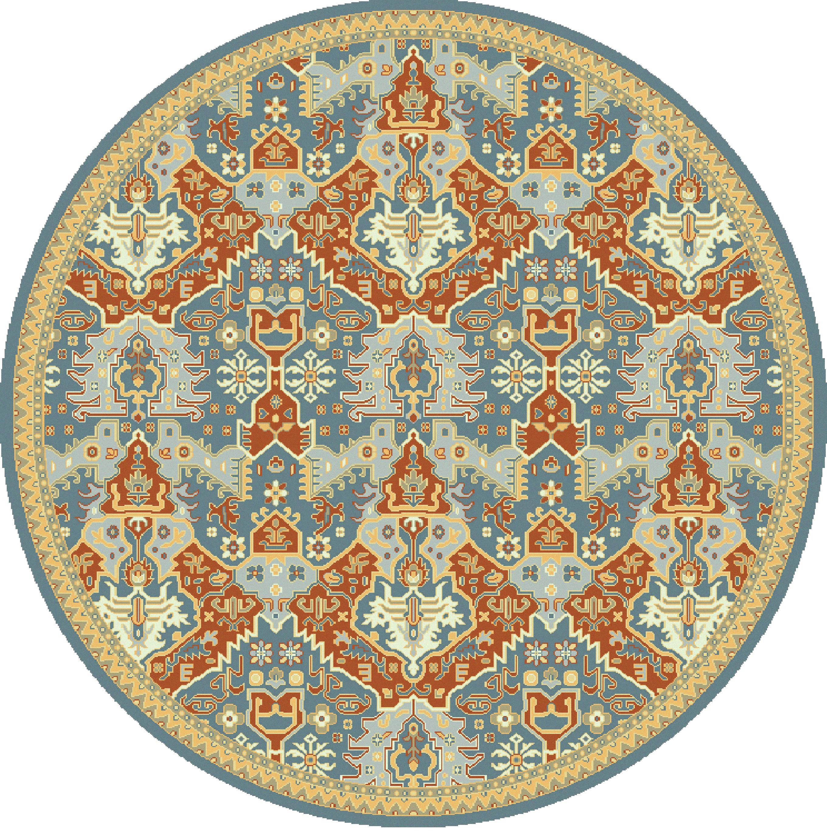 Surya Antolya 8' Round - Item Number: ANT9712-8RD
