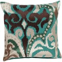Surya Ara 18 x 18 x 4 Down Throw Pillow - Item Number: AR074-1818D