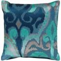 Surya Ara 20 x 20 x 4 Polyester Throw Pillow - Item Number: AR075-2020P