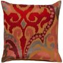 Surya Ara 20 x 20 x 4 Down Throw Pillow - Item Number: AR077-2020D