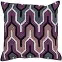 Surya Aztec 20 x 20 x 4 Polyester Throw Pillow - Item Number: AR107-2020P