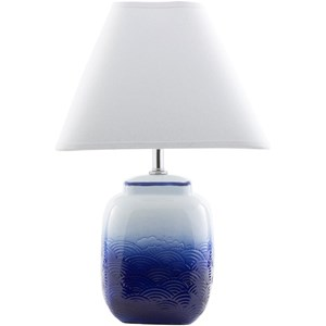 Ombre Blue Modern Table Lamp