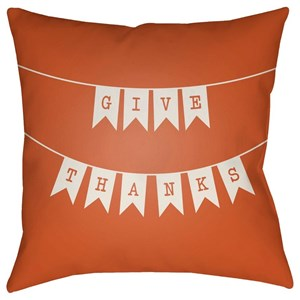 Surya Banner 18 x 18 x 4 Polyester Throw Pillow
