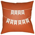 Surya Banner 18 x 18 x 4 Polyester Throw Pillow - Item Number: BNR001-1818