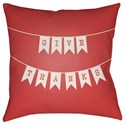 Surya Banner 18 x 18 x 4 Polyester Throw Pillow - Item Number: BNR003-1818