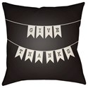 Surya Banner 18 x 18 x 4 Polyester Throw Pillow - Item Number: BNR004-1818