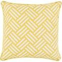Surya Basketweave 20 x 20 x 4 Polyester Throw Pillow - Item Number: BW003-2020