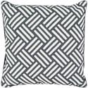 Surya Basketweave 20 x 20 x 4 Polyester Throw Pillow - Item Number: BW007-2020