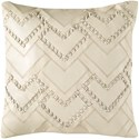Surya Bedford 18 x 18 x 4 Down Throw Pillow - Item Number: BEF002-1818D