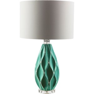 Teal Modern Table Lamp