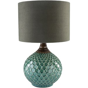 Surya Blakely Dark Green Table Lamp