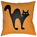 Surya Boo 20 x 20 x 4 Polyester Throw Pillow - Item Number: BOO108-2020