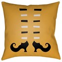 Surya Boo 20 x 20 x 4 Polyester Throw Pillow - Item Number: BOO139-2020