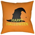 Surya Boo 18 x 18 x 4 Polyester Throw Pillow - Item Number: BOO145-1818