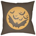 Surya Boo 20 x 20 x 4 Polyester Throw Pillow - Item Number: BOO171-2020