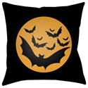 Surya Boo 18 x 18 x 4 Polyester Throw Pillow - Item Number: BOO172-1818