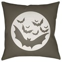 Surya Boo 18 x 18 x 4 Polyester Throw Pillow - Item Number: BOO173-1818