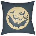 Surya Boo 18 x 18 x 4 Polyester Throw Pillow - Item Number: BOO174-1818