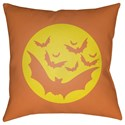 Surya Boo 18 x 18 x 4 Polyester Throw Pillow - Item Number: BOO175-1818