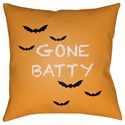 Surya Boo 20 x 20 x 4 Polyester Throw Pillow - Item Number: BOO178-2020