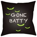 Surya Boo 18 x 18 x 4 Polyester Throw Pillow - Item Number: BOO180-1818