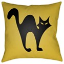Surya Boo 20 x 20 x 4 Polyester Throw Pillow - Item Number: BOO107-2020