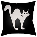 Surya Boo 18 x 18 x 4 Polyester Throw Pillow - Item Number: BOO110-1818