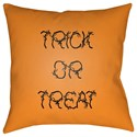 Surya Boo 18 x 18 x 4 Polyester Throw Pillow - Item Number: BOO129-1818
