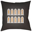 Surya Boo 20 x 20 x 4 Polyester Throw Pillow - Item Number: BOO132-2020